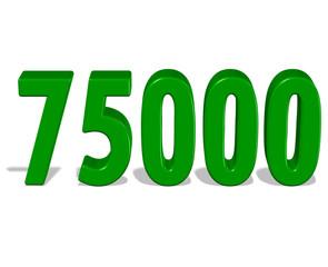 yeşil renkli 75000 sayısı