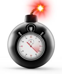 Chronometer on black bomb