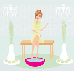 relax in the beauty salon