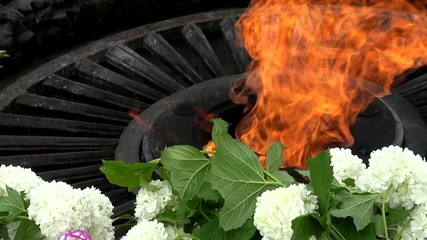 Fire memorial to the victims for the victory