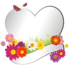 Banderole mit Blumen