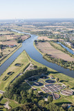 Aerial view of Opole city center