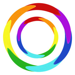 round oil paint design