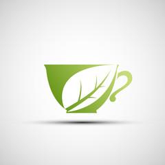 Vector logo cup of tea