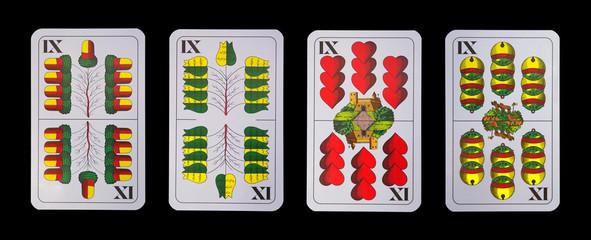 Spielkarten - Schnapskarten  NEUN IX