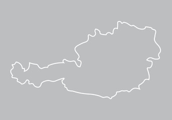 abstract map of Austria
