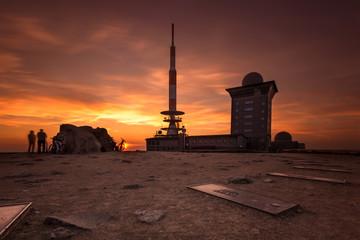 Der Brocken zum Sonnenuntergang