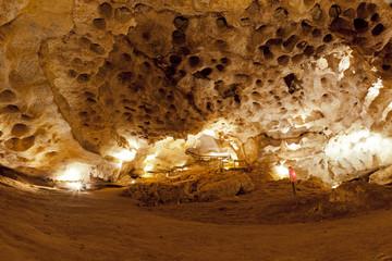 Inside a limestone cave