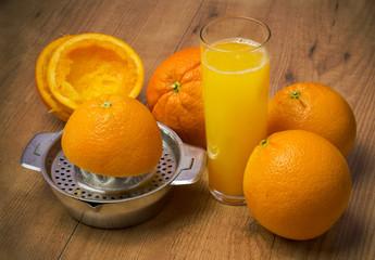 Naranjas en zumo