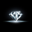 diamond isolated on black background - 79248115