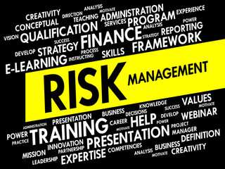 Word cloud of Risk Management related items