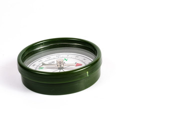green magnetic compass