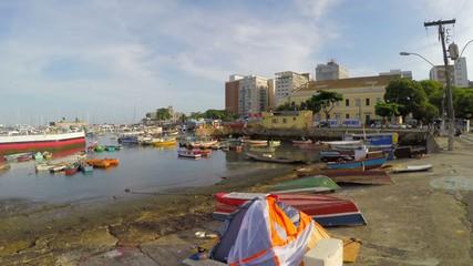Harbour view of Salvador, Bahia, Brazil