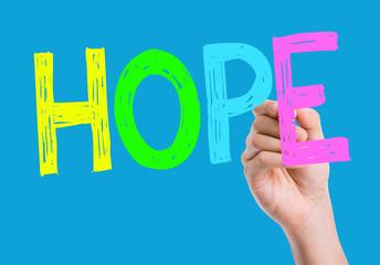 Hope written on the wipe board