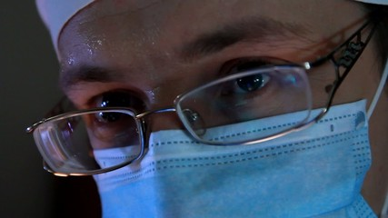 doctor looks