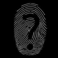 question mark on a fingerprint