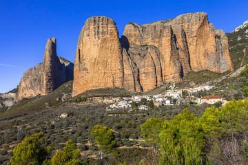 incredible rocks -  Mallos de Riglos (province of Huesca, Spain)