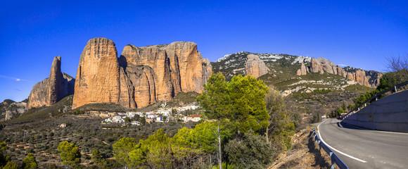 fantastic rocks of Mallos de Riglos (province of Huesca, Spain)