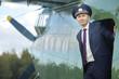 Male pilot a small plane - 79250387