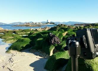 fotografiando la playa