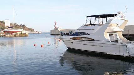 Sea port of Sochi. Yacht club