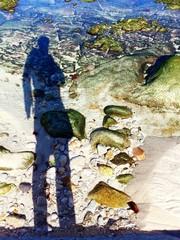 silueta en el agua