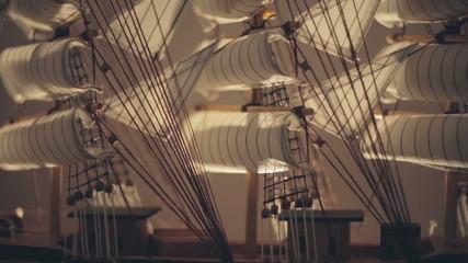 Miniature ship. Close-up