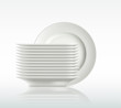 porcelain plates on a white background - 79252712