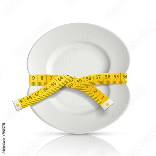 tailor centimeter around the plate - 79252718