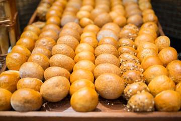Assortment of fresh bread rolls