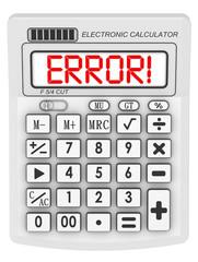 Ошибка! (Error!)  Надпись на электронном калькуляторе