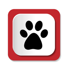 Векторная иконка с изображением лапы животного