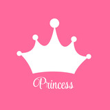 Fototapety Princess  Background with Crown Vector Illustration