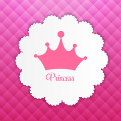 Princess  Background with Crown Vector Illustration