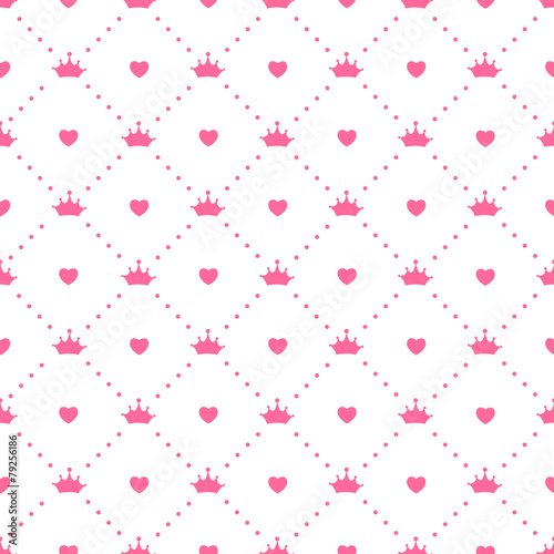 Princess Seamless Pattern Background Vector Illustration - 79256186