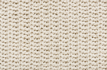 white knitted wool