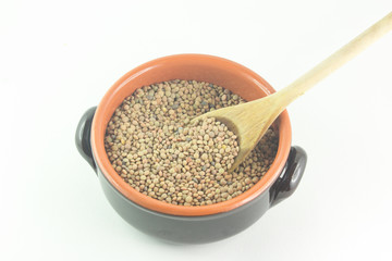Ciotola con lenticchie