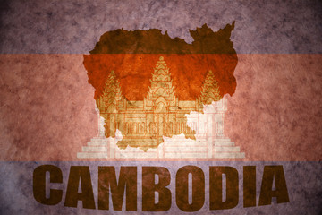 cambodia vintage map