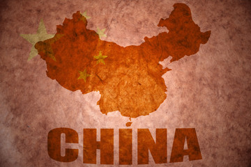 china vintage map
