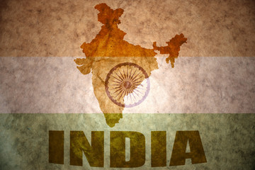 india vintage map