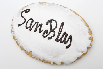 Holiday Cookie San Blas. Sweet typical day on February 3 in Spai