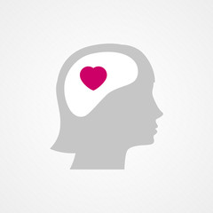 Female head and heart