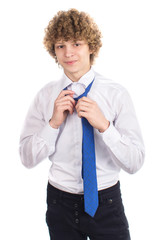 successful young man in a business suit