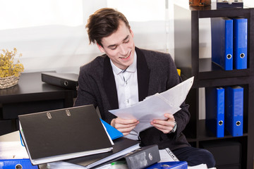 Business man with paperwork