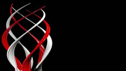 spiral on black background, circling