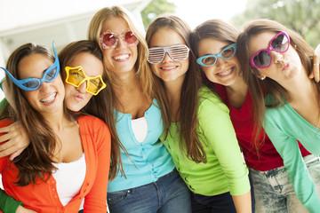 Happy teenager women