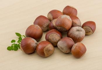 Hazelnut heap
