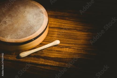 Traditional Irish bodhran and stick - 79259162