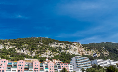 Rock of Gibraltar and cable car