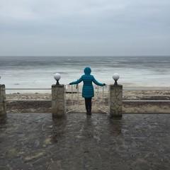 view on winter sea